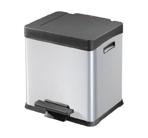 0624-210 Design-Tret-Abfalltrenner S-Box 2 x 12, silber