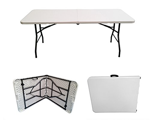 6ft Folding Table - Rectangular - Super Tough, Folds in Half with Carry Handle, by Folding Tables UK