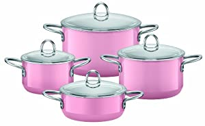 silit 4 piece cookware set rose pink amazon. Black Bedroom Furniture Sets. Home Design Ideas