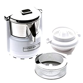 Waring Juicing Center, Quite White/Stainless