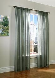 Thermasheer Weathervane Insulated Sheer Window Panels, Sage