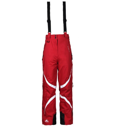 COX SWAIN women 2-layer snowboard-/ ski pant JACY with RECCO 15.000mm waterproof, Colour: Red/White, Size: L
