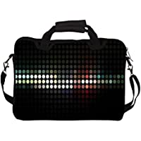 "Snoogg Abstract Black Design 14"" 14.5"" 14.6"" Inch Laptop Notebook SlipCase With Shoulder Strap Handle Sleeve Soft..."