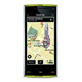 Nokia X6 Touch Unlocked GSM Phone with 5 MP Camera and 16 GB Memory (White with Yellow Cap)