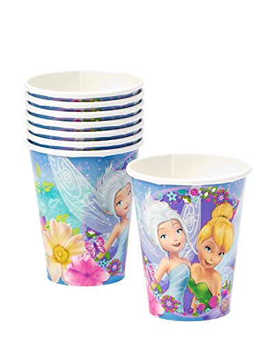 Tinker Bell 9oz Paper Party Cups, Pack of 8, Party Supplies