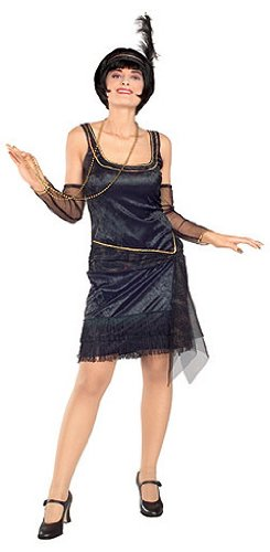 Adult Speak Easy Flapper Costume - Womens Std.