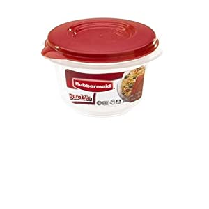 Rubbermaid HPFG4002RDCHILI Durable Round  1.1-Cup Food Storage Container
