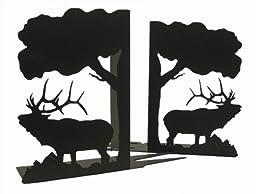 BUGLING Elk BOOKENDS