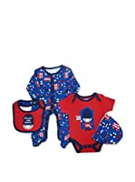 Pitter Patter Baby Gifts Conjunto (Azul)