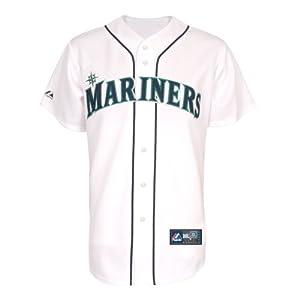 MLB Majestic Seattle Mariners White Replica Jersey by Majestic