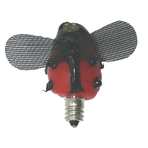 "Vickie Jean'S Creations 0140420 - ""Lazy Lady Bug"" Soft Tipped Silicone Candelabra Screw Base Light Bulb"