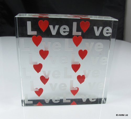 Beautiful Gift Boxed Crystal Message Block Great