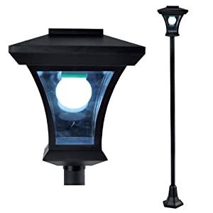 1.69m Tall Solar Powered Garden Lamp Post Light