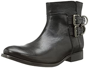 FRYE Women's Molly D Ring Short Boot,Black,6.5 M US