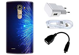 Spygen LG G4 Case Combo of Premium Quality Designer Printed 3D Lightweight Slim Matte Finish Hard Case Back Cover + Charger Adapter + High Speed Data Cable + Premium Quality OTG