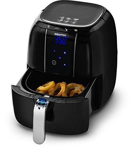 Gourmia GAF520 Electric Air Fryer with 4 Preset Functions, LED Display & Adjustable Temperature Controls Includes Fry Basket, Free Recipe Book - 1400W 4.5 Quart