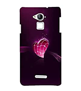 printtech Love Heart Design Back Case Cover for Coolpad Note 3 Lite Dual SIM with dual-SIM card slots