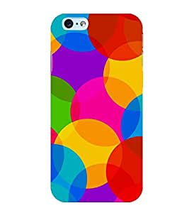 OVERLAPPING CIRCULAR PATTERN 3D Hard Polycarbonate Designer Back Case Cover for Apple iPhone 6S