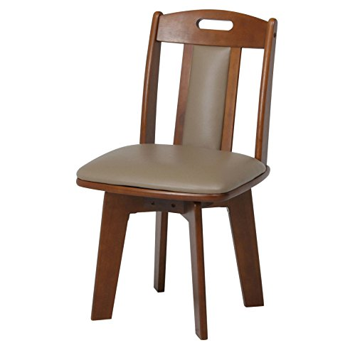 Fuji trade dining seat surface rotating Chair wooden Brown 46573