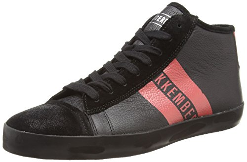 Bikkembergs Twentyfive 139 M.Shoe M Leather, Sneaker, Uomo, Nero (Black/Red), 43