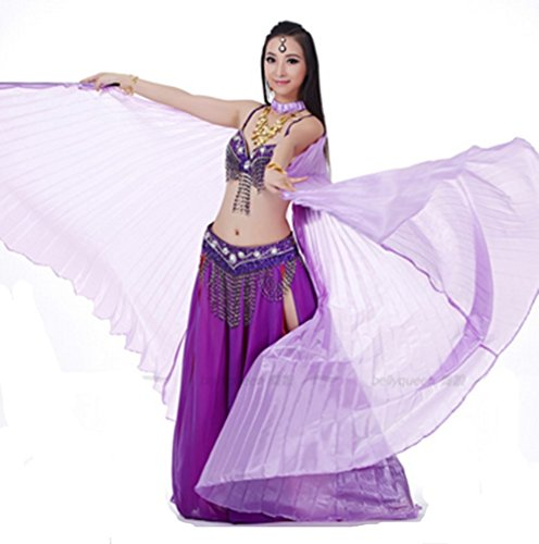 Dreamspell Beautiful Big Isis Wings Pure Purple Transparent for Belly Dance