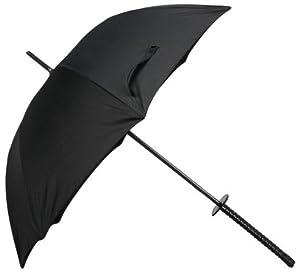 R-STYLE 家から一歩出ればサムライ魂を 刀デザイン 戦国武士傘 (黒柄タイプ)