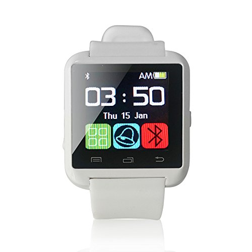 Yuntab Mobile U8 Watch SmartWatch Bluetooth 3.0 Silicone Wristband for Apple iOS smartphone iphone 4 / 4S / 5 / 5C / 5S / 6 Android Samsung S2 / S3 / S4 / Note 2/3 Note HTC Nokia (White)