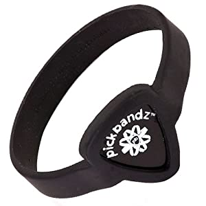 Pickbandz Bracelet Epic Black Medium/Large - Guitar Pick Holder Bracelet