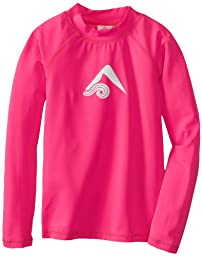 Kanu Surf Big Girls\'  Keri Long Sleeve Rashguards, Neon Pink, Large (12)