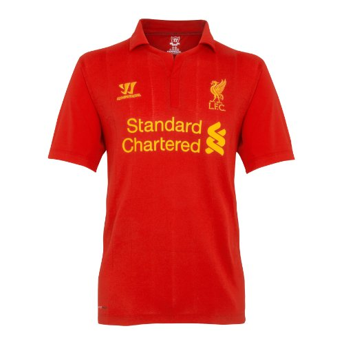 Warrior Liverpool Football Club Home Short Sleeve Jersey - High Risk Red, X-Large