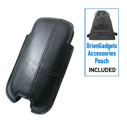 Oriongadgets OEM Leather Vertical Sleeve Case for T-Mobile myTouch 4G (Black) (Includes OrionGadgets Accessory Pouch)