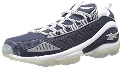 Reebok Men's DMX Run 10 Lace-Up Fashion Sneaker,Athletic Navy/White/Pure Silver,8.5 M US