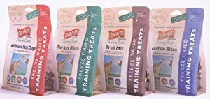 Bravo Freeze Dried Training Treats Variety Pack, Dog Treats, 2.5-ounce (4 bags)