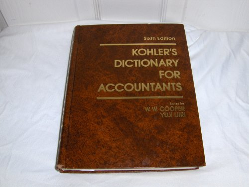 Kohler's Dictionary for Accountants (Prentice-Hall series in accounting) PDF