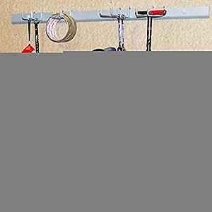 GARAGE - Range-outils murale en metal argent