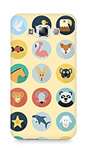 Amez designer printed 3d premium high quality back case cover for Samsung Galaxy E7 (Animals Pattern)