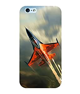 printtech Superfast Plane Jet Sky Back Case Cover for Apple iPhone 6