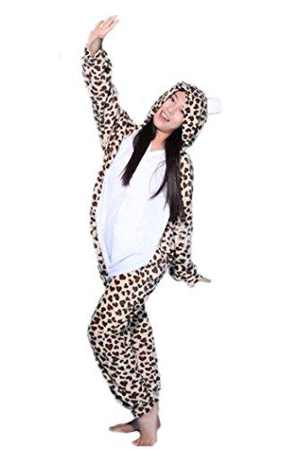 7f66b01d69 wotogold Animal Traje de Cosplay Leopardo Oso Onesies Hombre Mujer ...