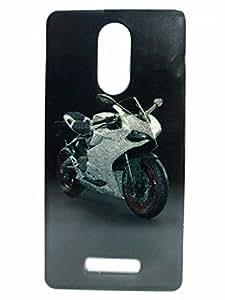 snmobista Silicon Soft Back Case Cover for Xiaomi Redmi Note 3 - Bike