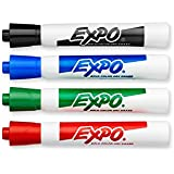 Expo Original Dry Erase Markers, Bullet Tip, 4-Pack, Assorted Colors