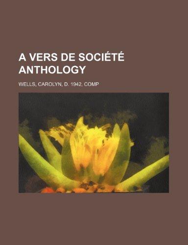 A vers de société anthology
