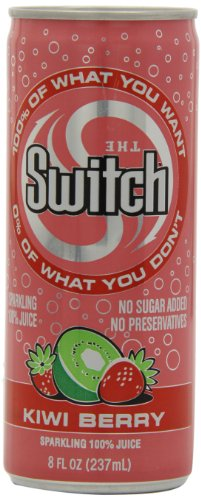 The Switch Sparkling Juice, Kiwi Berry, 8-Ounce Cans (Pack of 24) (Juice Berry compare prices)