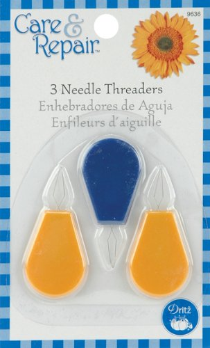 Lowest Price! Dritz Plastic Needle Threaders, 3-Pack, Blue/Yellow