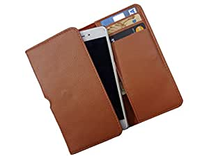 ATV PU Leather BRONZE Color Pouch Case Flip Cover For SAMSUNG GALAXY W