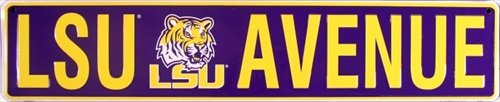 Louisiana State University LSU Tigers Avenue Embossed Metal Novelty Street Sign - STR20017 at Amazon.com