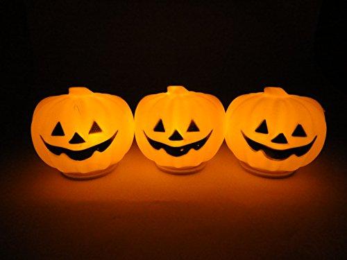 揺らぐ灯り LED かぼちゃ ライト ジャックオーランタン セット ハロウィン 置物 ディスプレイ (3個セット)