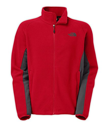 The North Face Khumbu 2 Fleece Jacket Men's (Large, Rage Red/Vanadis Grey)