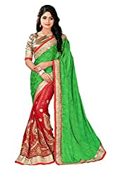 silvermoon women's chiffon embroidered free size fancy saree-sm_NMD2A228_green_free size