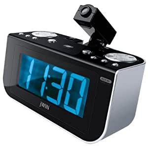 jwin jl360 projection alarm clock with am fm radio discontinued by manufacturer. Black Bedroom Furniture Sets. Home Design Ideas