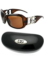 DG Sun Glasses Brown with XXL DG with one Hard Case Black